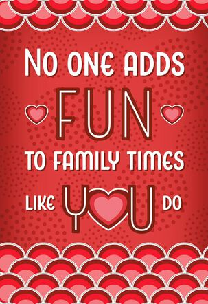 Family Fun Valentine's Day Card