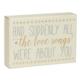 Love Songs Wood Sign, , large