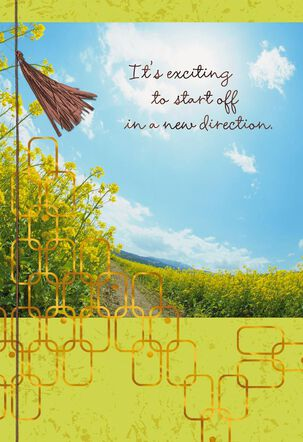 Field of Flowers New Beginnings Card