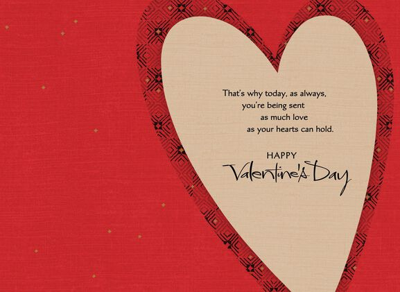 For a Special Grandson and Wife Red Heart Valentines Day Card – Valentine Day Cards for Wife