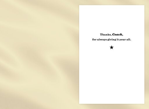 Thanks, Coach Appreciation Card,