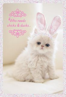 Kitty Cuteness Easter Card,
