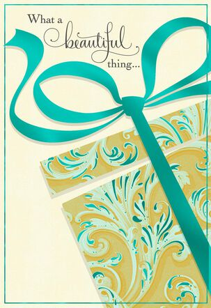Beautiful Gift of You With Foil Birthday Card