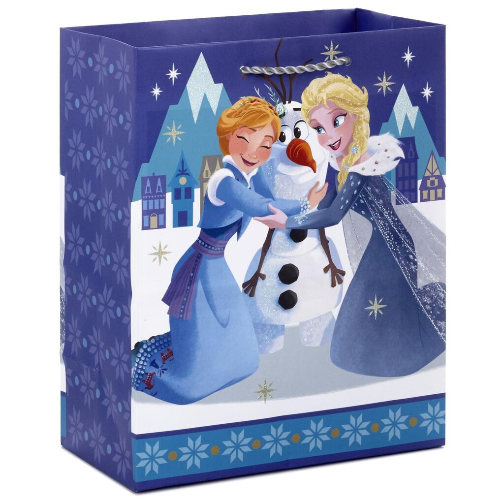 Frozen Christmas.9 Disney Frozen Elsa Anna And Olaf Christmas Gift Bag