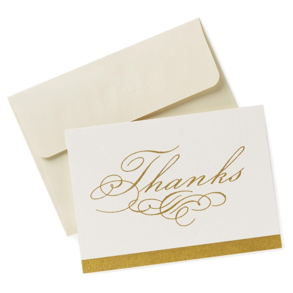 Classic Holiday Thank You Notes Pack Of 10 Hallmark