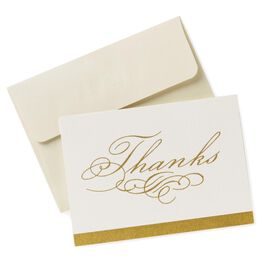 Classic Holiday Thank You Notes, Pack of 10, , large