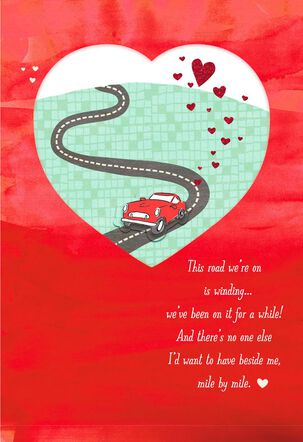 Car on Road Valentine's Day Card for Husband