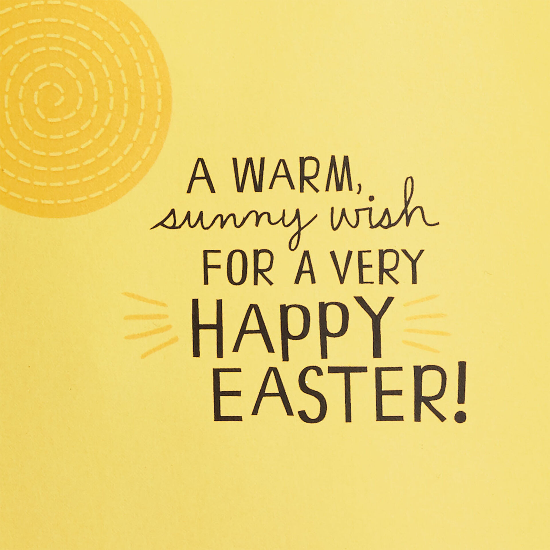 Hallmark Happy Easter Day Greeting Song Card w// a Bunny and Easter Eggs in Grass