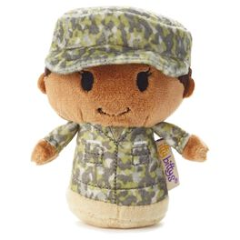 itty bittys® Green Camo African-American Girl Stuffed Animal, , large