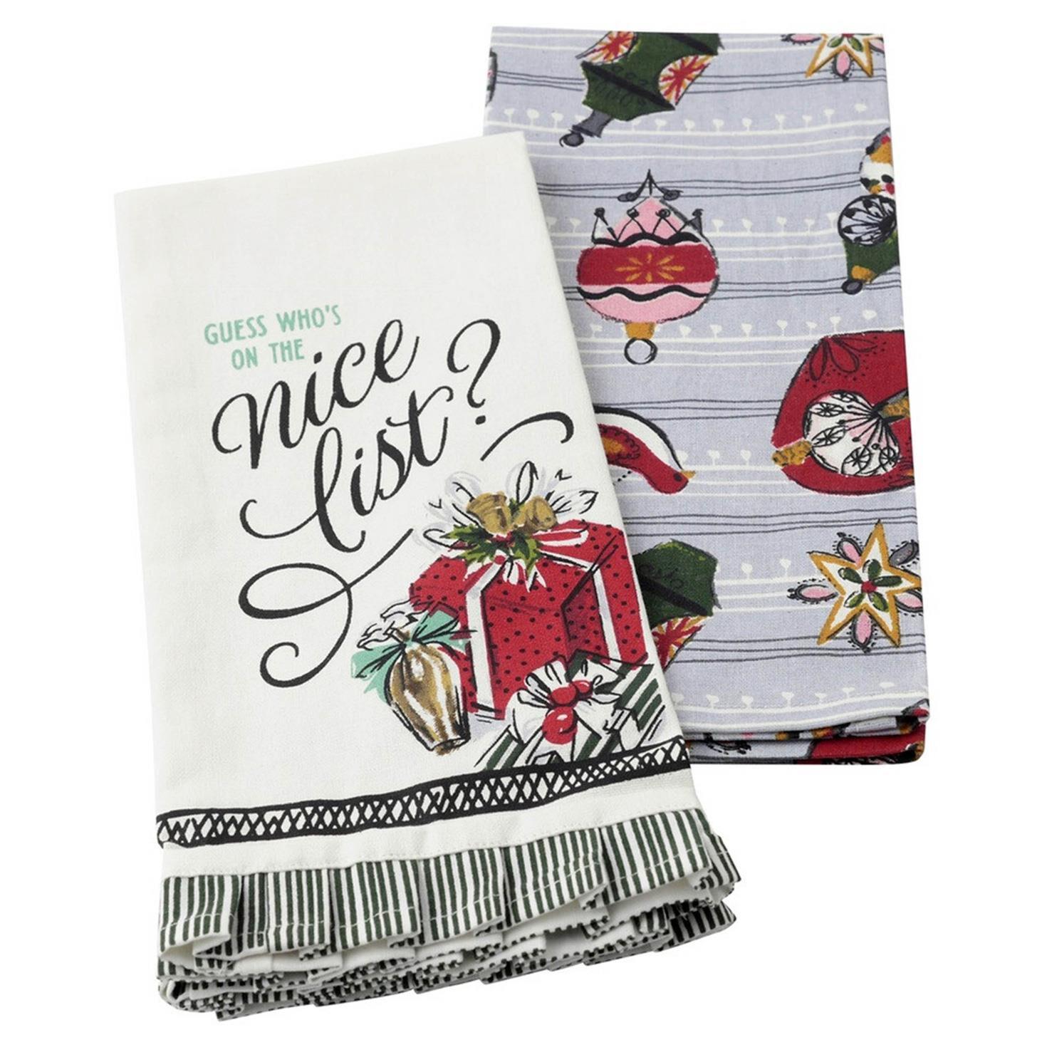 presents tea towels set of 2 kitchen linens hallmark