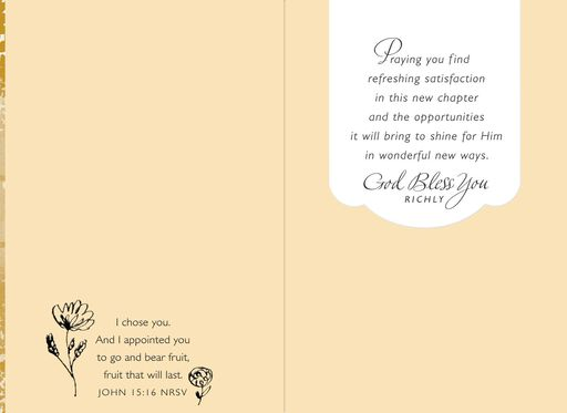 Made a Difference Religious Retirement Card for Pastor,