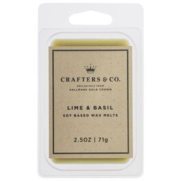 Crafters & Co. Lime & Basil Wax Melt, 2.5-oz, , large