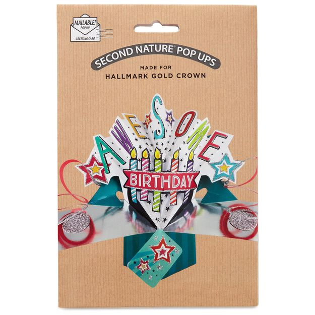 Awesome PopUp Birthday Card Greeting Cards Hallmark – Awesome Birthday Cards