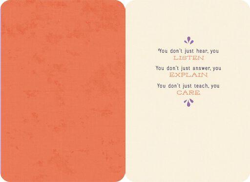 For a Wonderful Teacher Thank You Card,