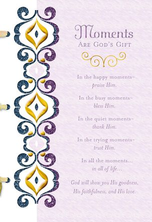 Moments Are God's Gifts Religious Wedding Card