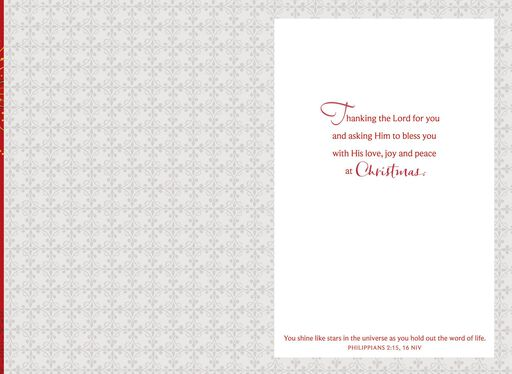 Thankful for You, Pastor Religious Christmas Card,