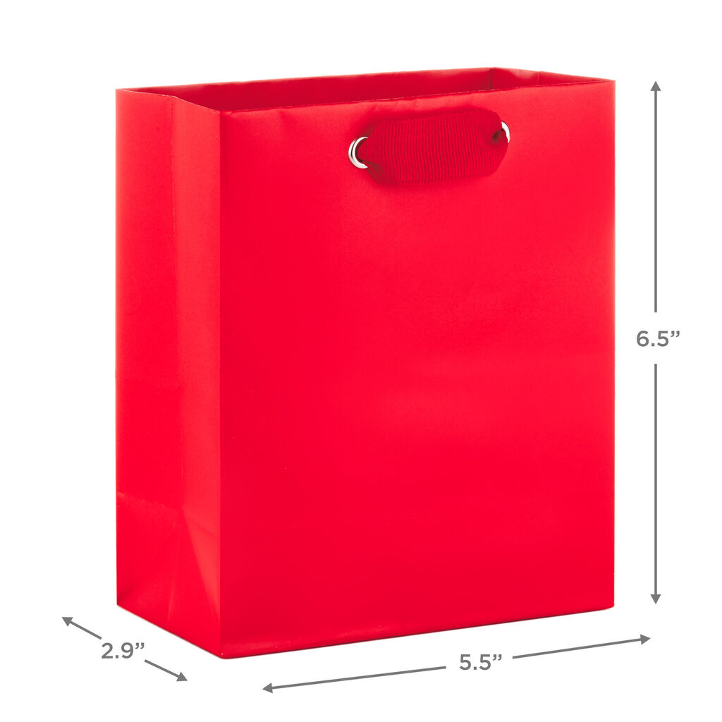 "Red Small Gift Bag, 6.5"" - Gift Bags"