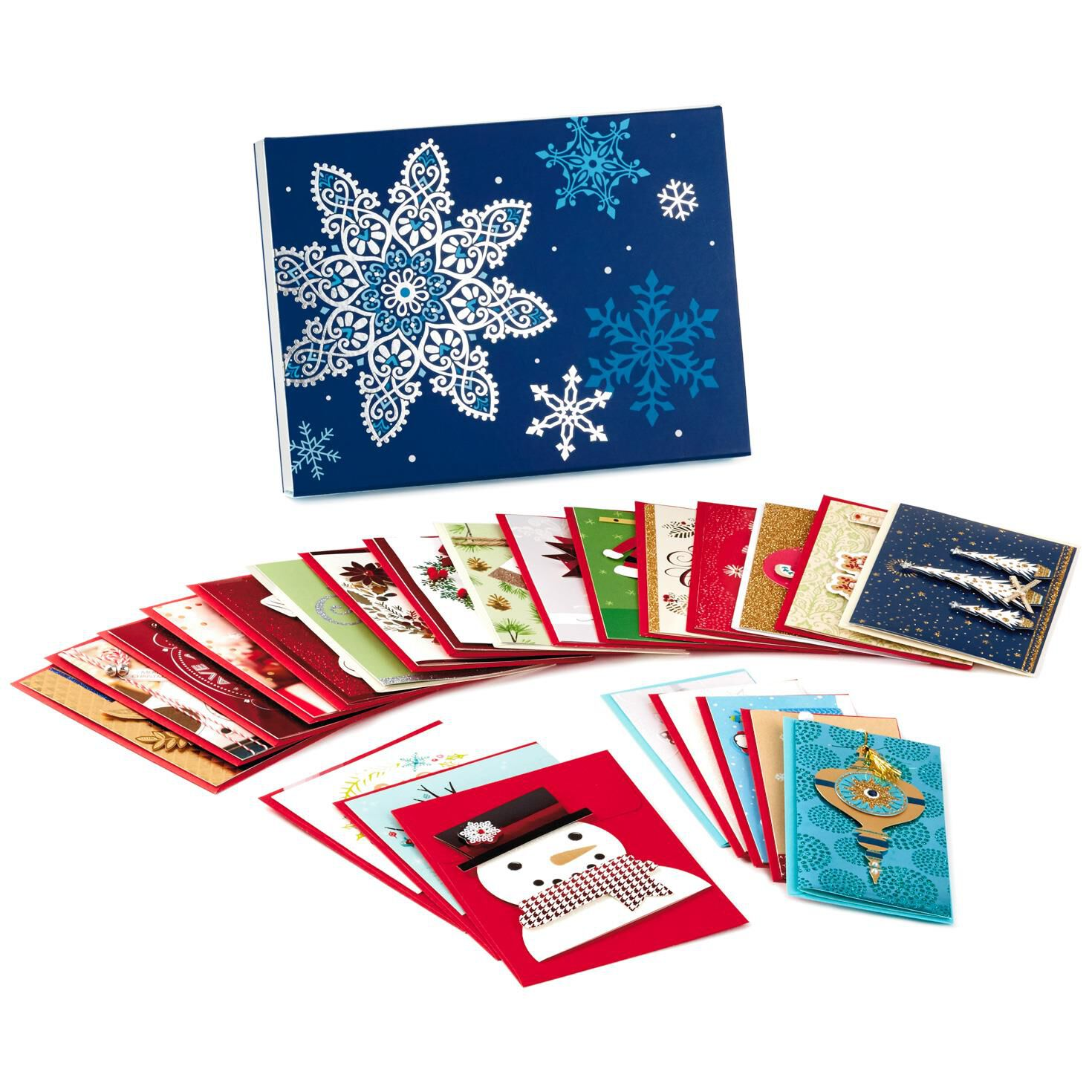 Assorted Handmade Christmas Cards, Box of 24 - Boxed Cards - Hallmark