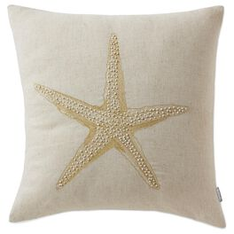 Cedar Cove Beaded Starfish Pillow, , large