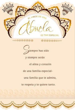 Love of a Grandmother Spanish-Language Birthday Card