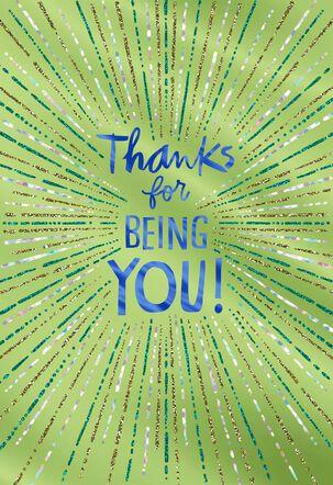 You Shine! Thank You Card