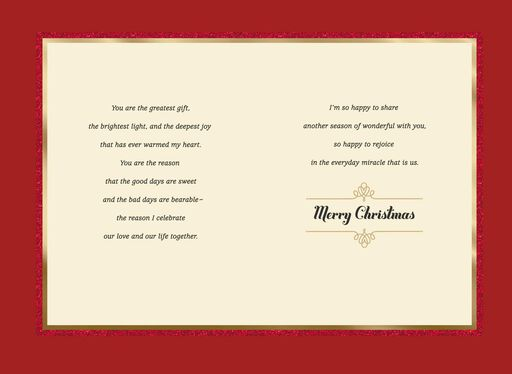 Lovely and Loving Wife Christmas Card,