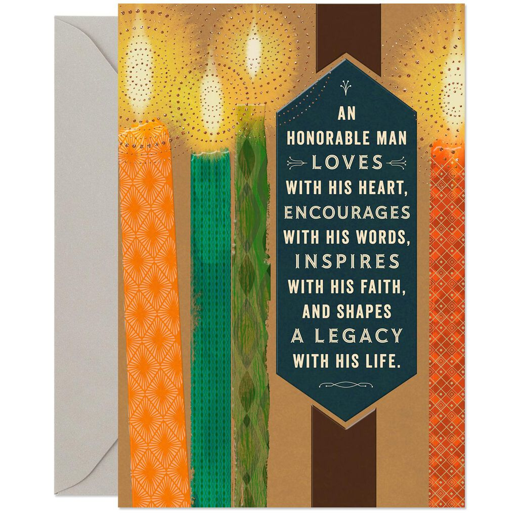 Sparkling Candles Religious Birthday Card For Him
