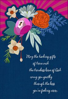 Healing Flowers Religious Sympathy Card,