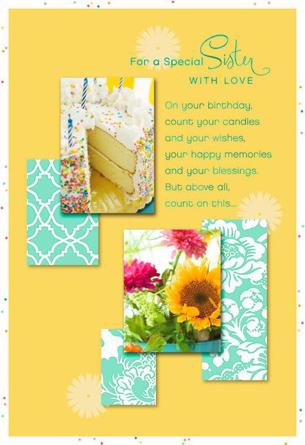 You Deserve A Beautiful Day Birthday Card For Sister Greeting