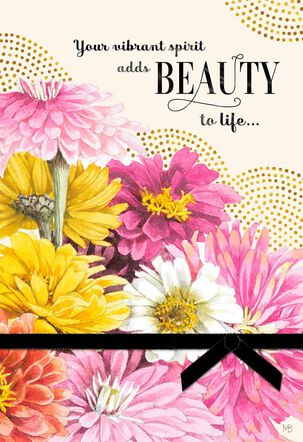 You Add Beauty To Life Marjolein Bastin Birthday Card