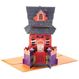 Haunted House Pop Up Halloween Card, , large