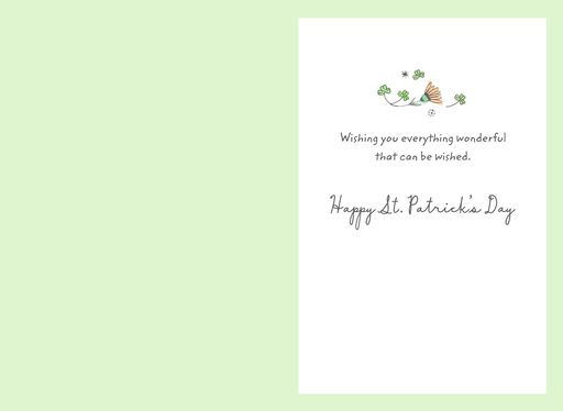 Wonderful Wishes For You St. Patrick's Day Card,