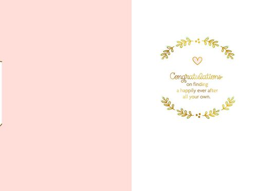 Two Hearts, One Love Wedding Card,