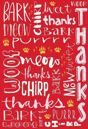 Animal Language Thank You Card