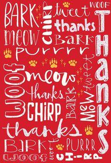 Animal Language Thank You Card,