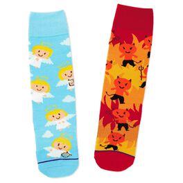 Angel and Devil Toe of a Kind Socks, , large