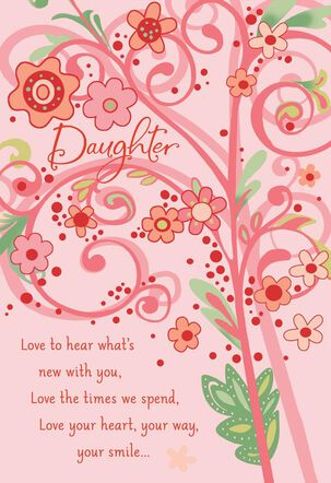 Love You Daughter Valentine's Day Card