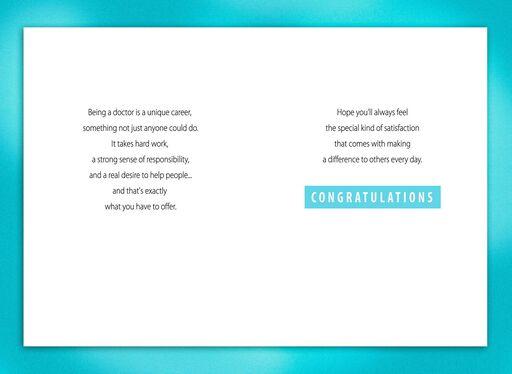 Medical School Stethoscope Graduation Card,