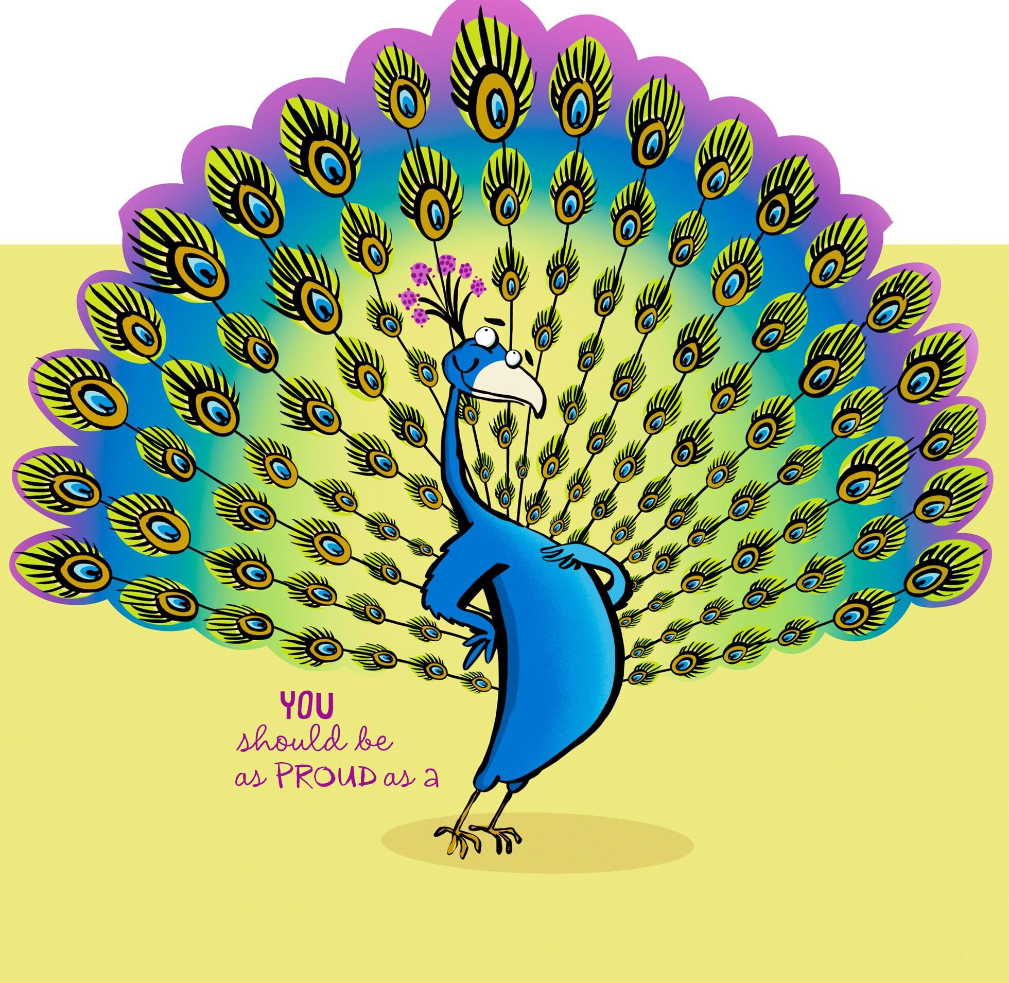 proud as a peacock administrative professionals day card - greeting cards
