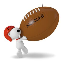 Touchdown Snoopy Football Ornament, , large