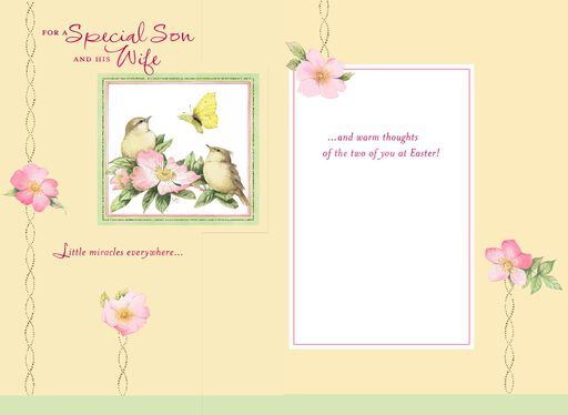 Marjolein Bastin Beauty in Nature Easter Card for Son and Daughter-in-Law,