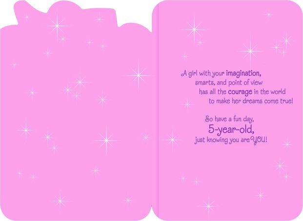Disney Princess Musical 5th Birthday Card