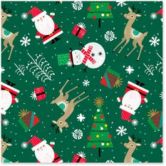 Santa And Friends Jumbo Christmas Wrapping Paper Roll 100