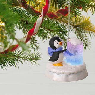 Merry Music Makers Penguin Playful Piano Music Ornament With Light,