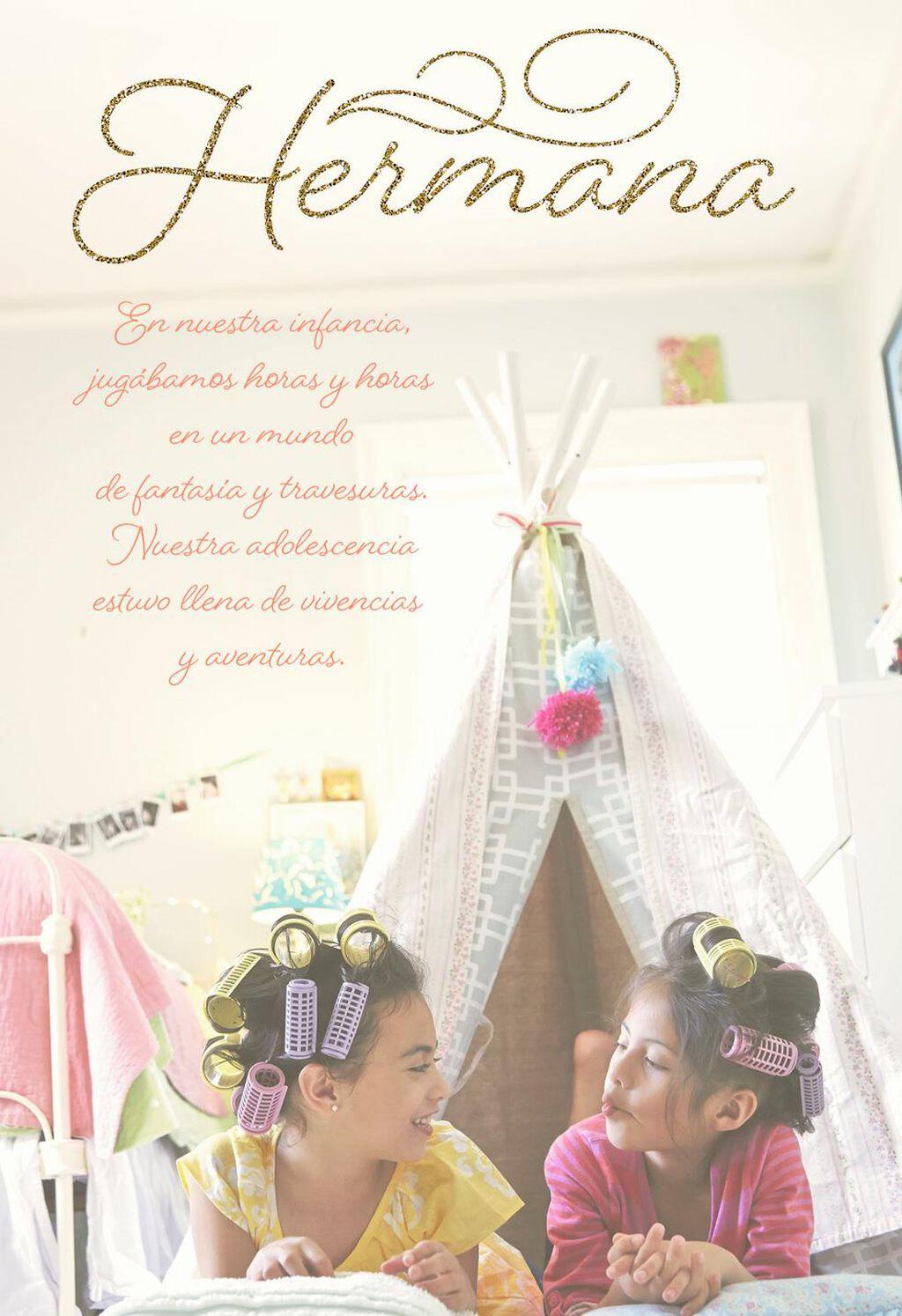 Just Sister To Sister Spanish Language Birthday Card Greeting