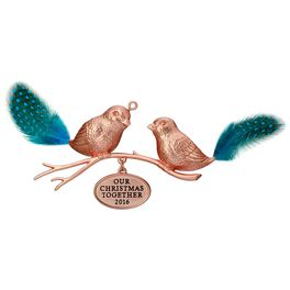 Our Christmas Together Love Birds Ornament, , large