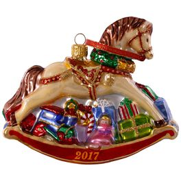 Regal Rocking Horse Premium Glass Ornament, , large