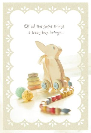 Love Is the Sweetest New Baby Boy Card