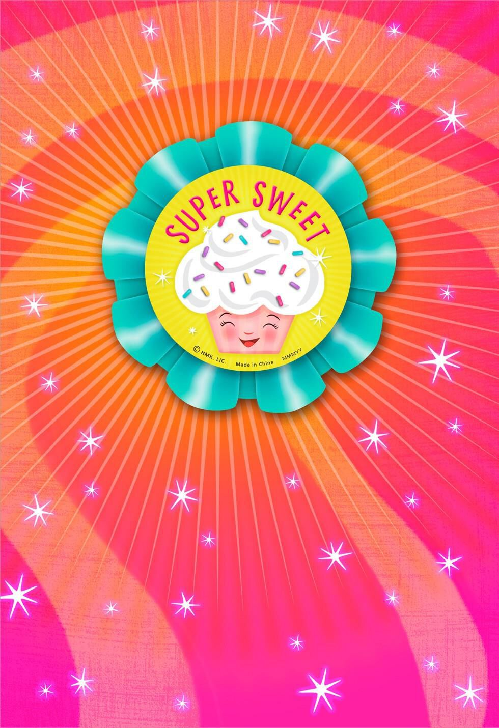 Super Sweet Cupcake Birthday Card With Pin On Button