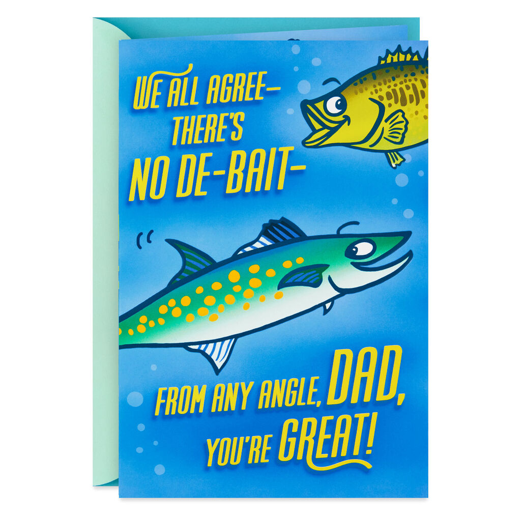 Fishing Puns Funny Birthday Card For Dad